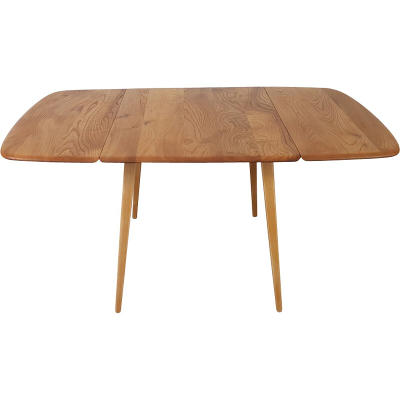 Vintage drop leaf dining table by Ercol - 1960s