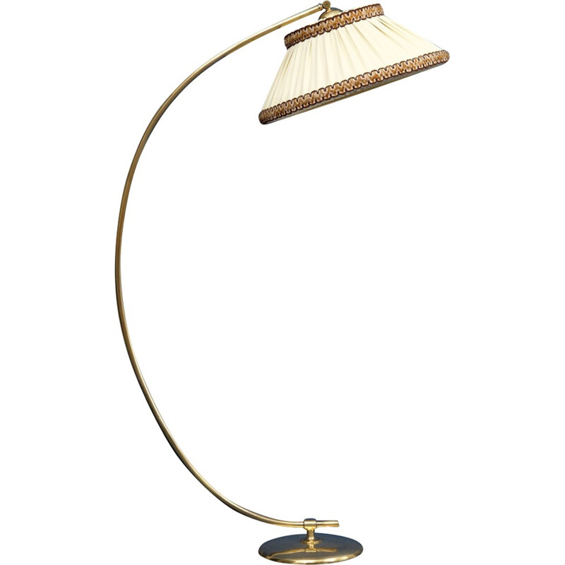 Vintage arc floor lamp with brass - 1950s