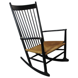 Rocking Chair J16 in wood and cane, Hans WEGNER - 1960s