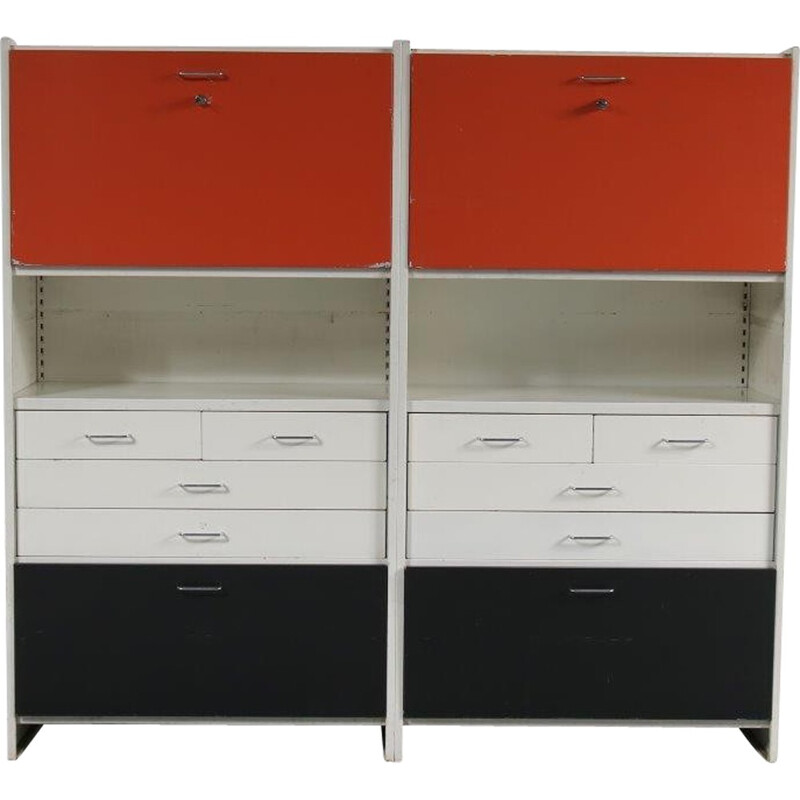 Vintage metal system cabinet with 2 identical units - 1960s