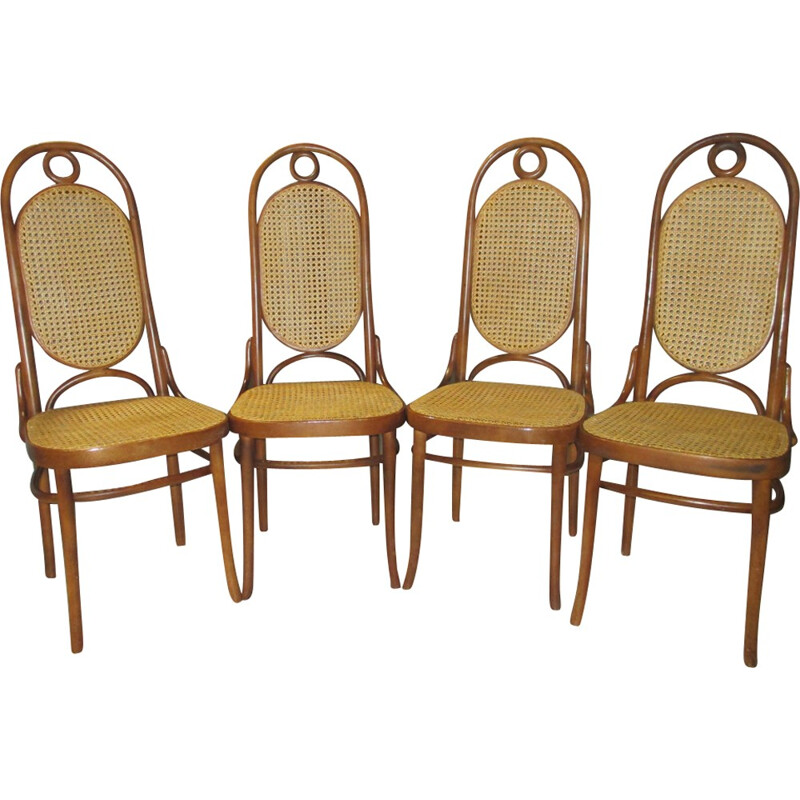 """Vintage set of 4 chairs """"N17""""  by Thonet - 1960s"""