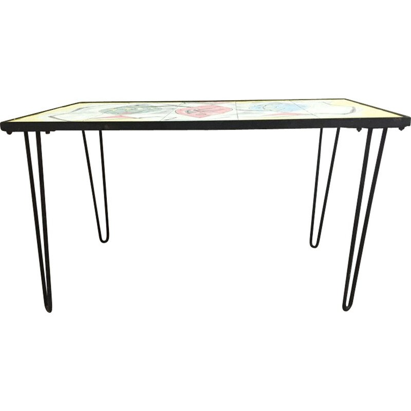Coffee table by J.G.P.  for Vallauris workshops - 1960s