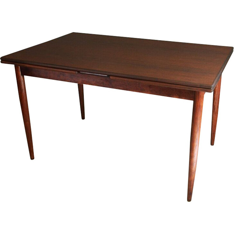 Vintage extendable dining table in rosewood - 1960s
