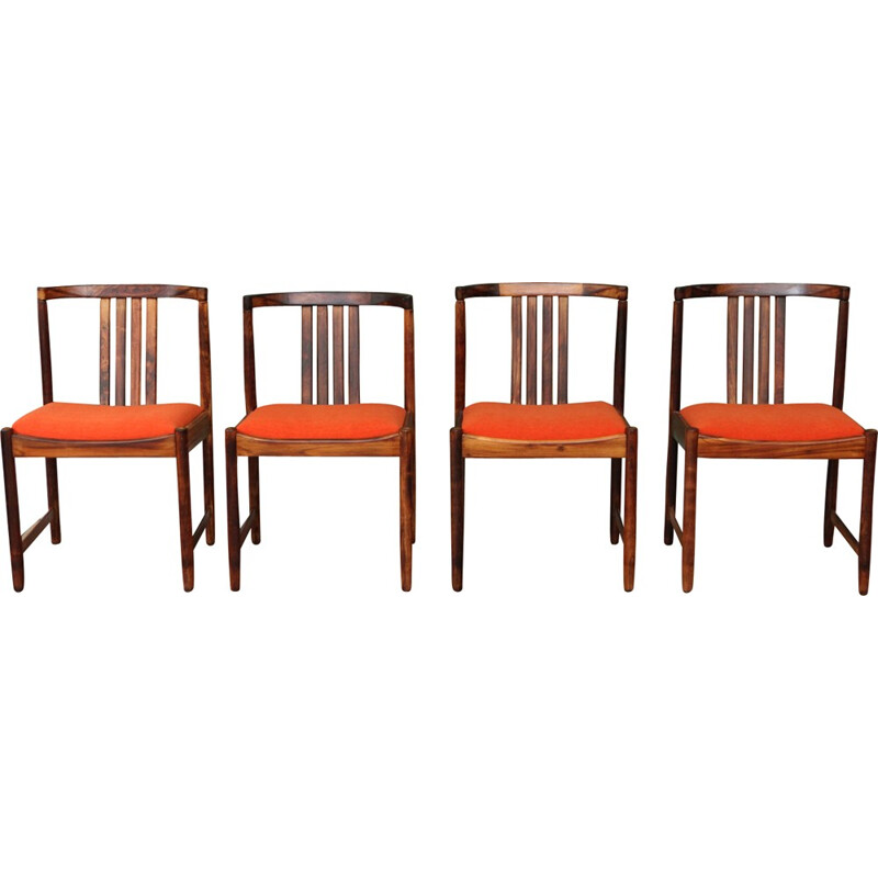 Vintage set of 4 rosewood dining chairs - 1960s