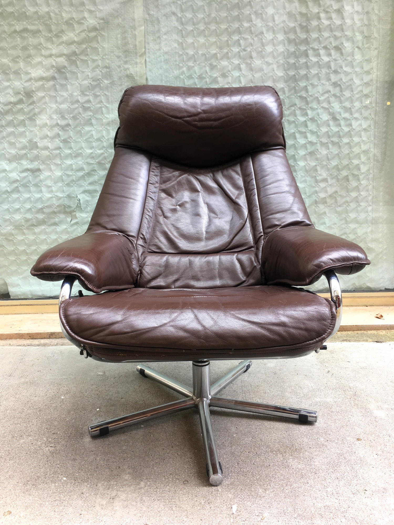 Scandinavian Vintage Leather Armchair  1960S Previous Next