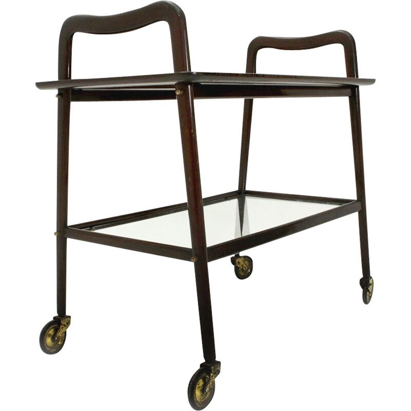 Vintage trolley with removable tray by Ico Parisi for Angelo de Baggis - 1950s