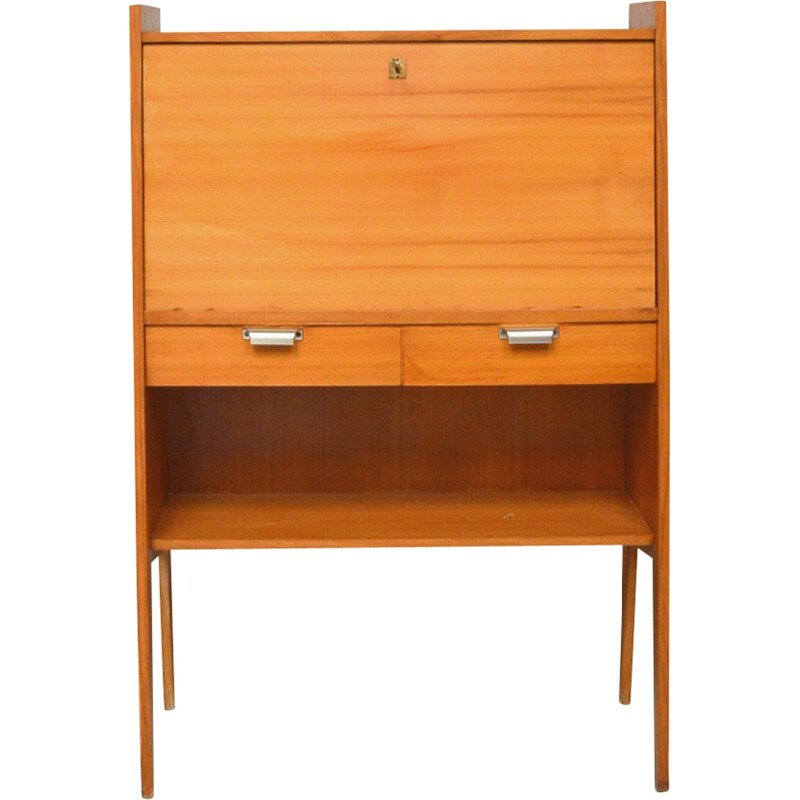 Vintage secretary with fins feet - 1960s