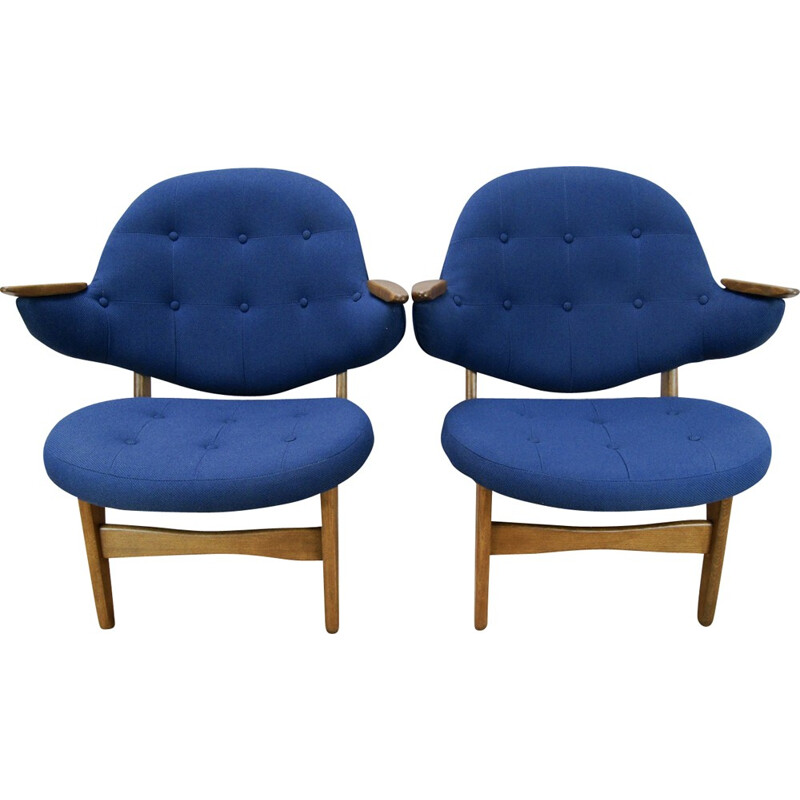 Set of 2 Model 33 Armchairs by Carl Edward Matthes - 1950s