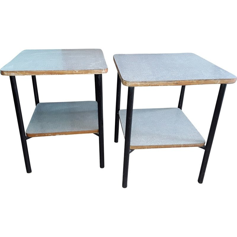 Pair of small vintage tables by Pierre Guariche - 1950s