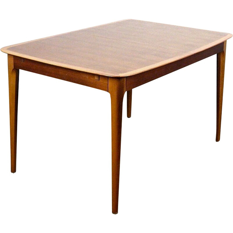 Vintage high table with integrated extensions - 1950s
