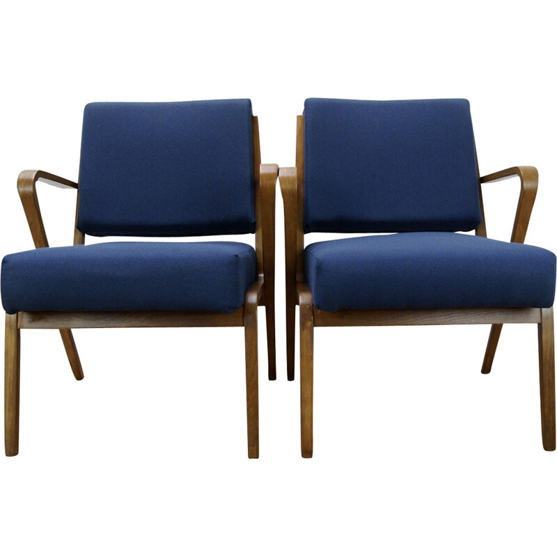 Set of 2 vintage armchairs by Selman Selmanagic for VEB Deutsche - 1950s