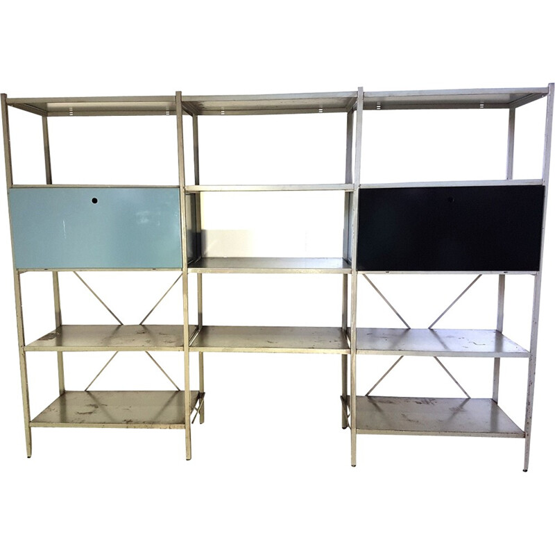 Vintage wall unit by Wim Rietveld for Gispen - 1950s