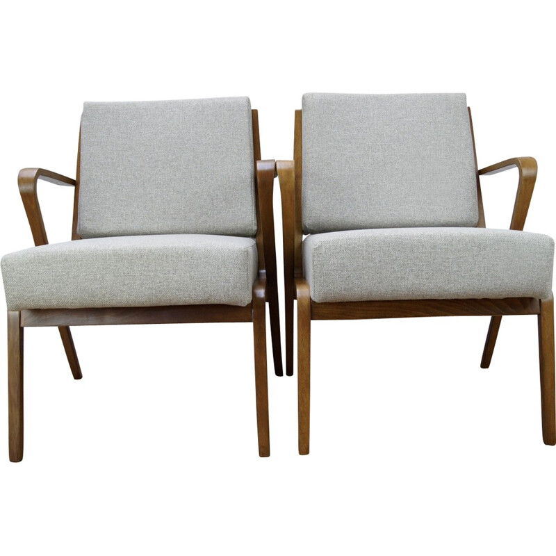 Set of 2 armchairs by Selman Selmanagic for VEB Deutsche - 1950s