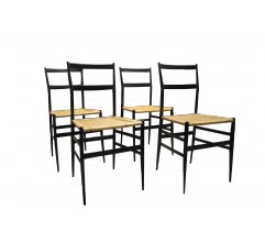 Set of 4 Supperleggera chairs, Gio PONTI - 1950s