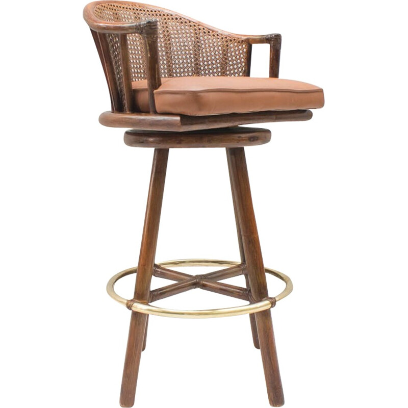 Set of 2 Bar Stools by Elinor McGuire for Hans Kaufeld - 1960s