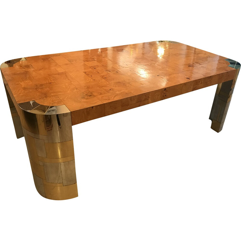 """Vintage """"Cityscape"""" dining table by Paul Evans - 1970s"""