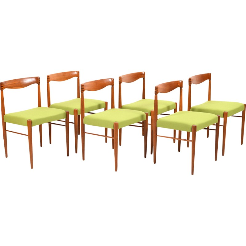 Set of 6 dining chairs in teak by Henry W. Klein for Bramin - 1960s