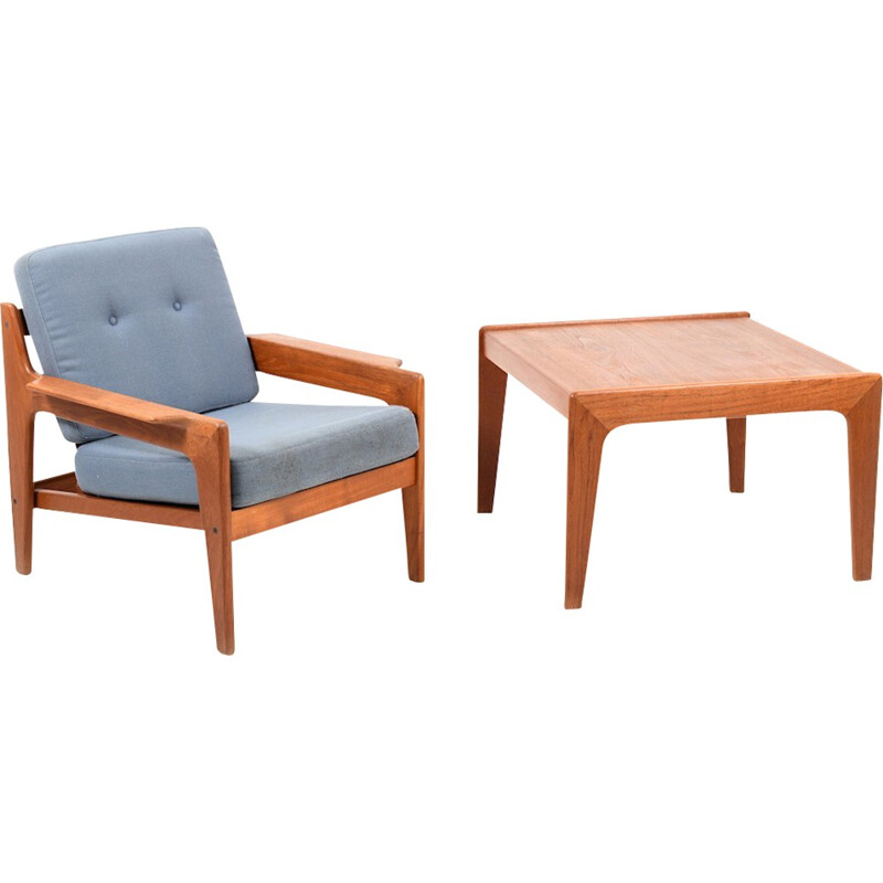 Vintage living room set in teak by Arne Wahl Iversen - 1970s