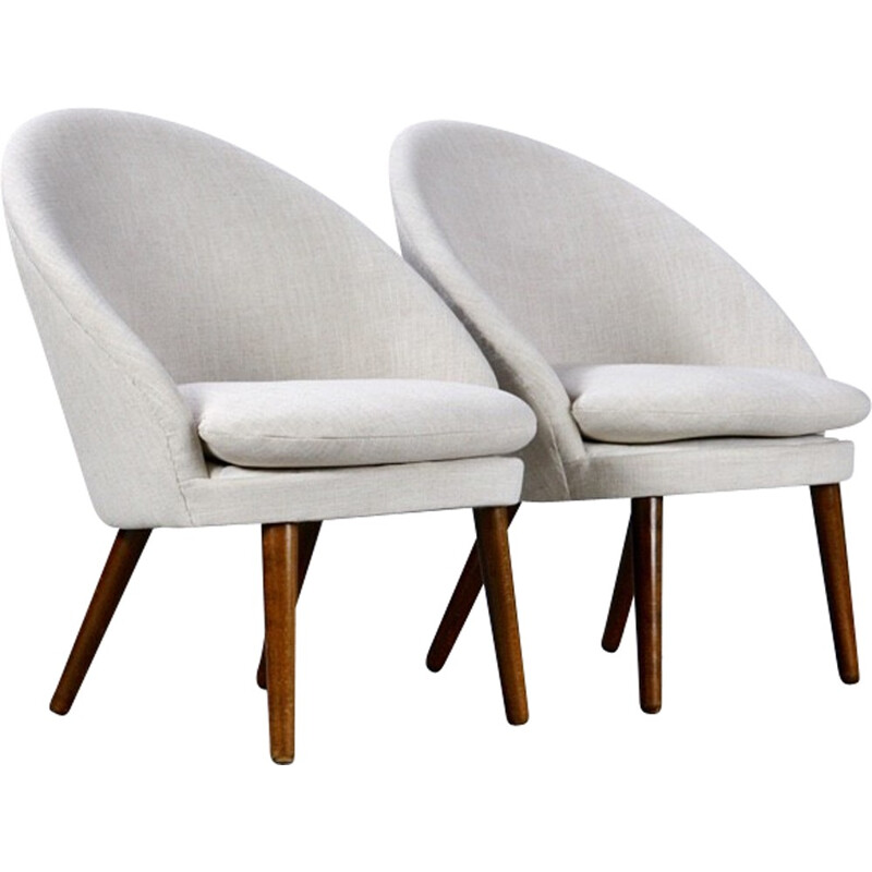 Set of 2 vintage armchairs by Ejvind A. Johansson - 1960s