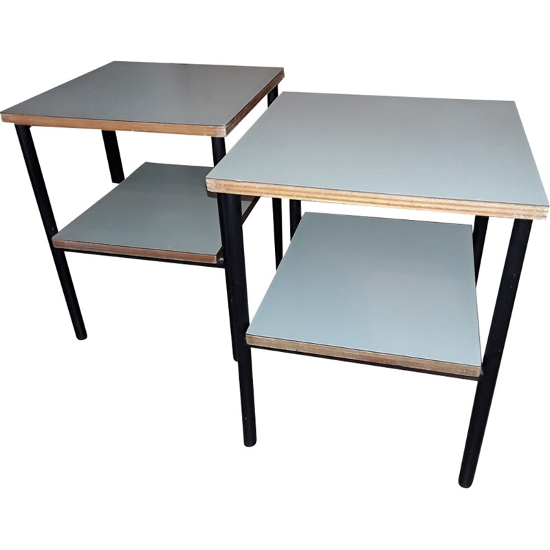Vintage pair of small tables by Pierre Guariche - 1950s