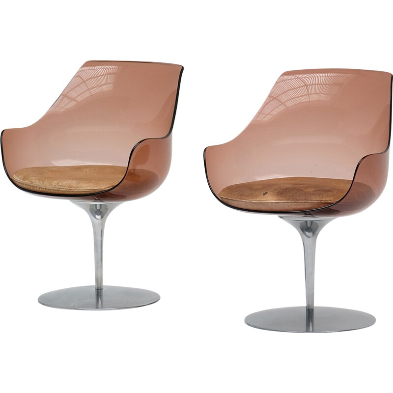 Pair of vintage chairs by Estelle & Erwine Laverne - 1950s