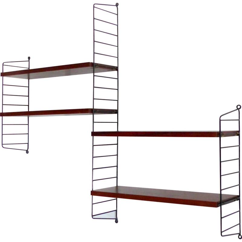 "Vintage ""String"" adjustable shelf system by N. Strinning - 1950s"