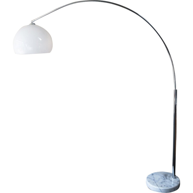 Vintage Italian floor lamp in marble - 1970s