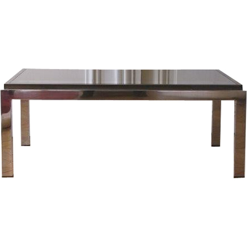 Chrome and brass Vintage Coffee table  - 1970s