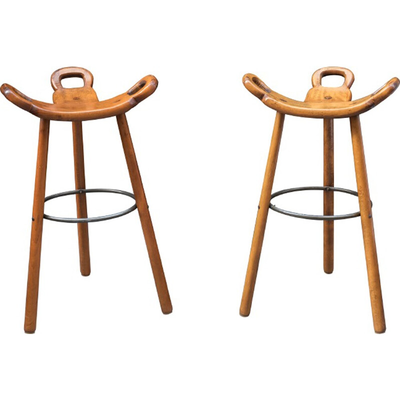 Set of 2 Marbella Vintage stools by Confonorm - 1970s