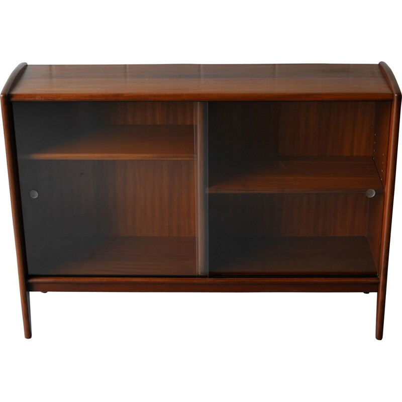 Solid afrormosia display cabinet bookcase by Younger - 1960s