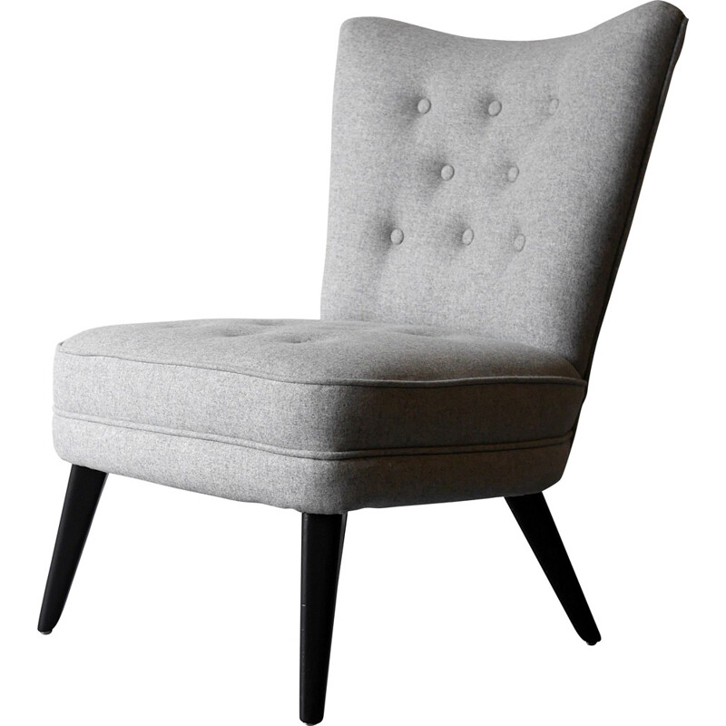 G-Plan model 404 occasional chair in grey - 1950s