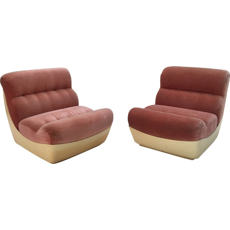 Set of 2 Vintage Space age Armchairs  - 1970s