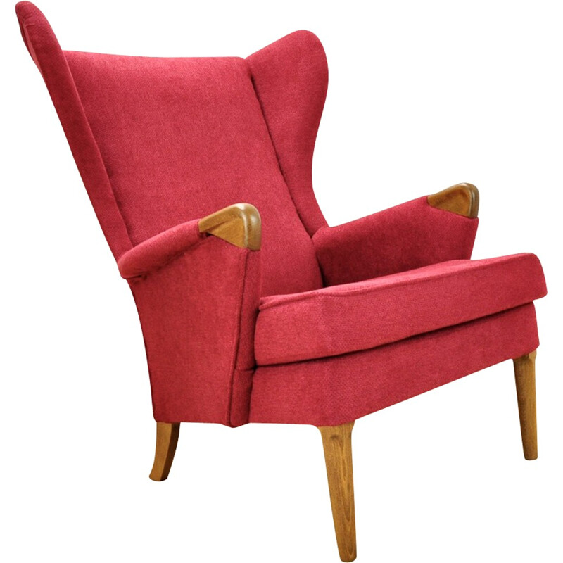 Vintage wingback chair with teak frame by Parker Knoll, UK - 1960s