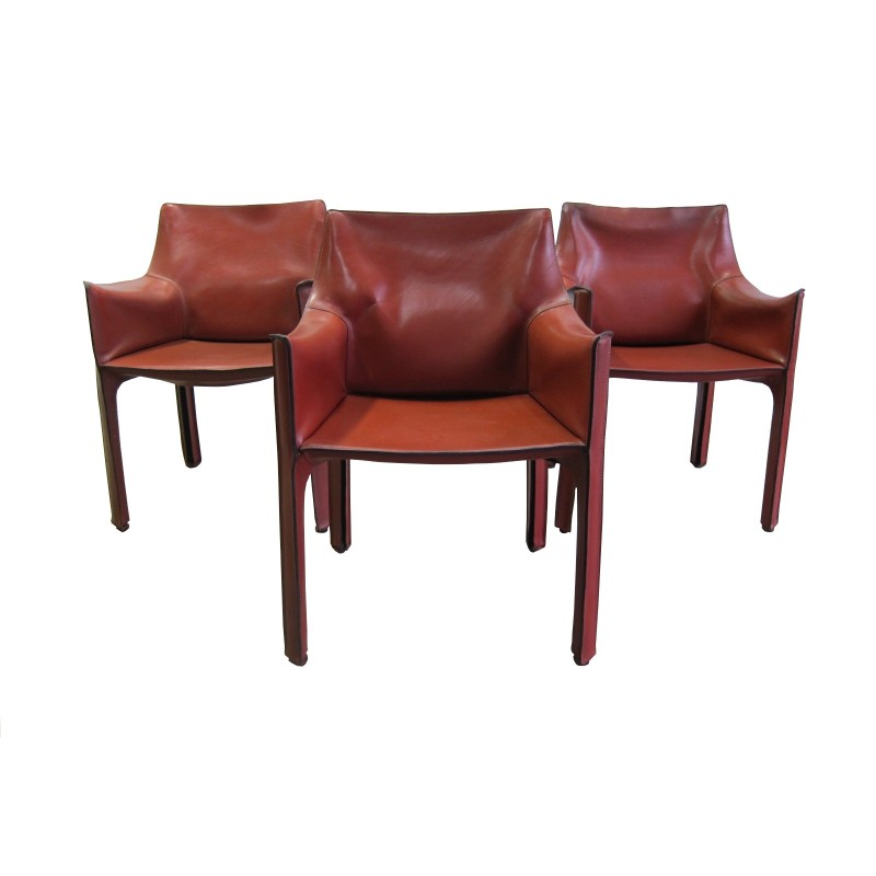 Phenomenal Cassina Cab 413 Leather Armchairs By Mario Bellini 1970S Ocoug Best Dining Table And Chair Ideas Images Ocougorg