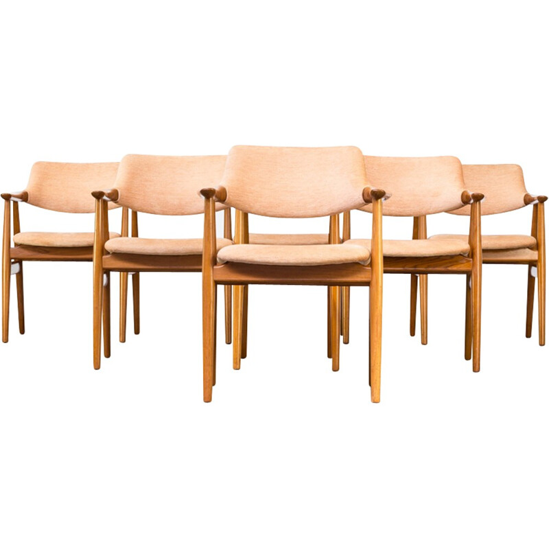 Set of 5 vintage chair by Svend Aage Eriksen for Gløstrup Møbelfabrik - 1960s