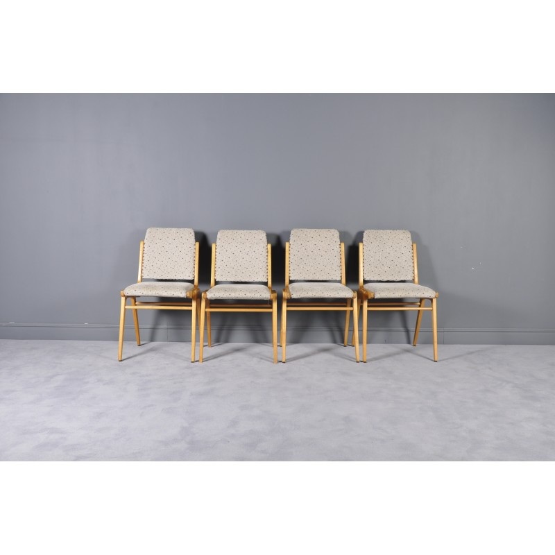 Swell Set Of 4 Vintage Beechwood Dining Chairs By Franz Schuster For Wiesner Hager 1950S Pabps2019 Chair Design Images Pabps2019Com