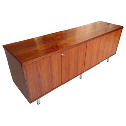 Sideboard in rosewood and metal, Florence KNOLL - 1960s