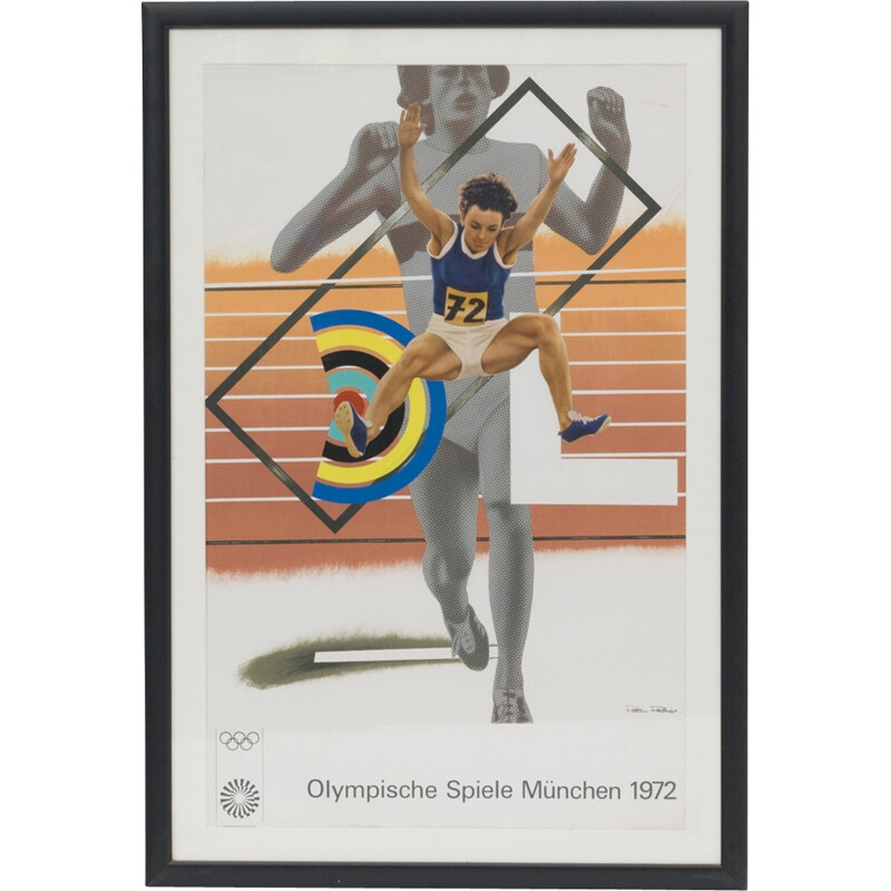 Vintage poster from 1972 Munich olympic games - 1972