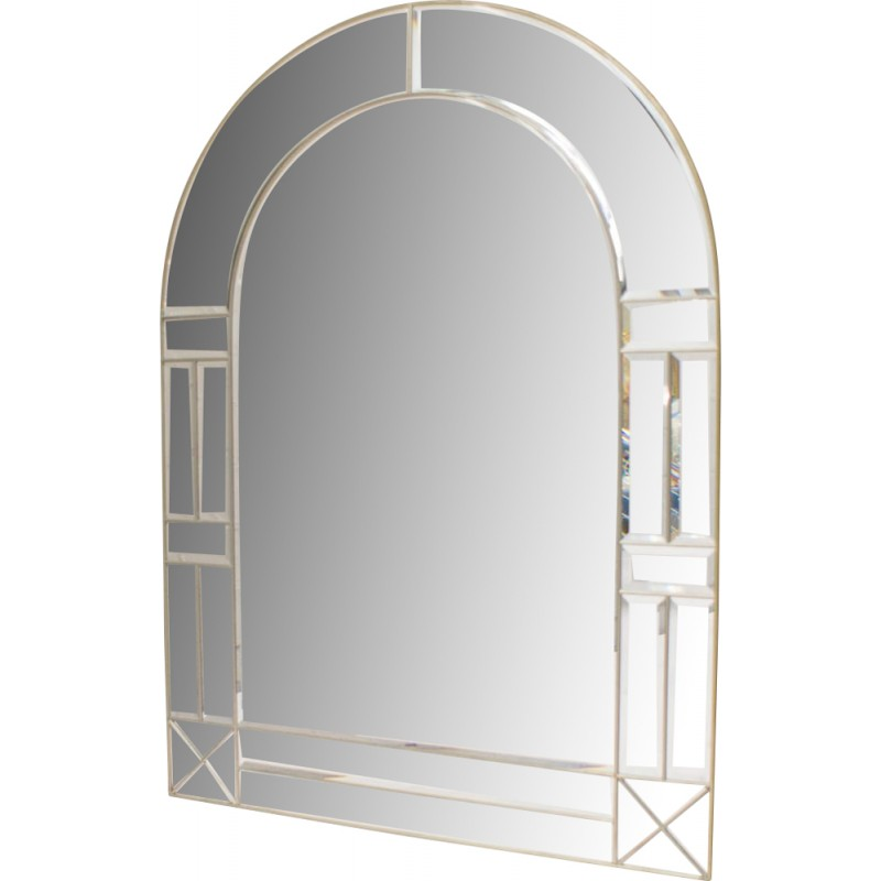 Large Faceted Round Arch Vintage Wall Mirror 1960s Design Market