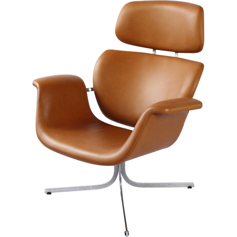 "Vintage lounge chair ""Big Tulip"" by Pierre Paulin for Artifort - 1960s"