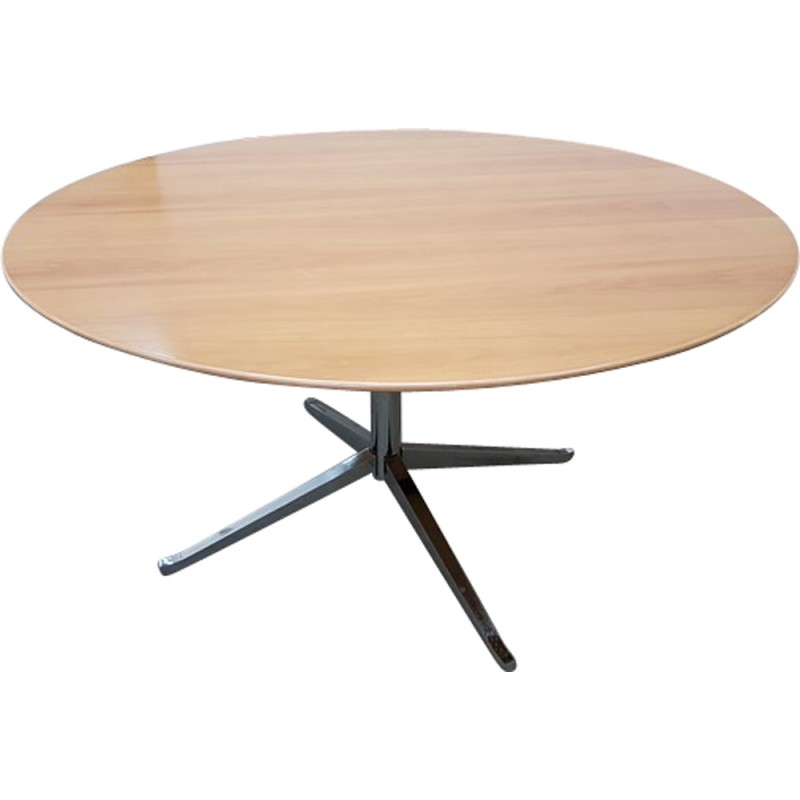 Vintage round table by Knoll - 1960s