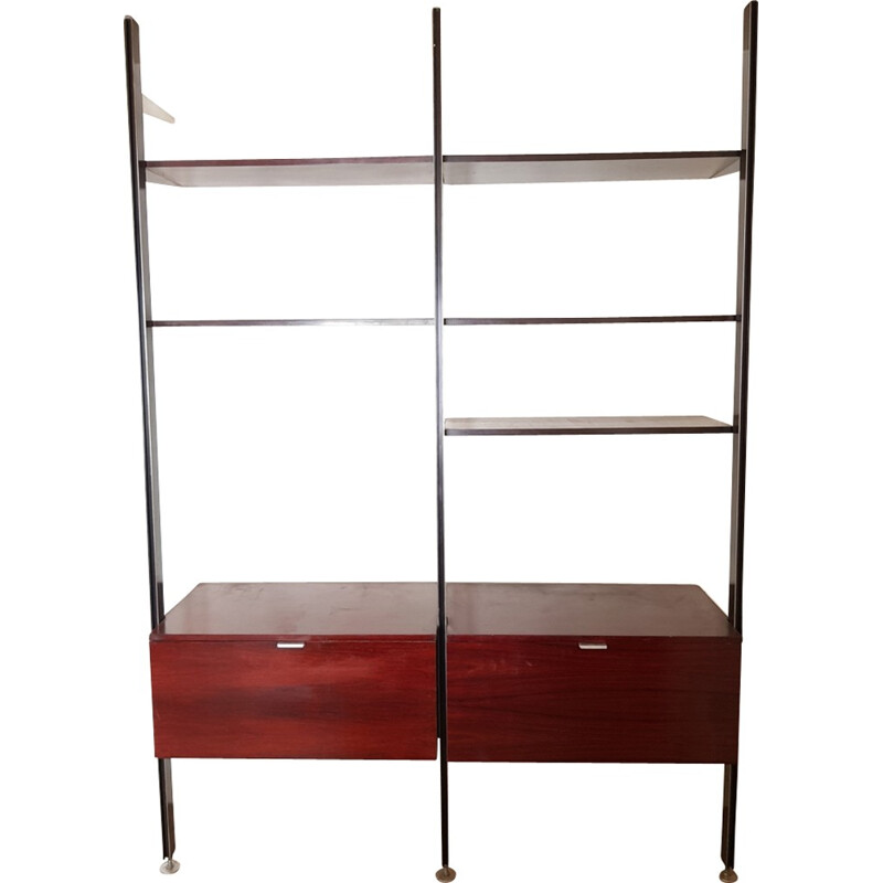 Vintage library-shelf in light rosewood by George Nelson - 1970s