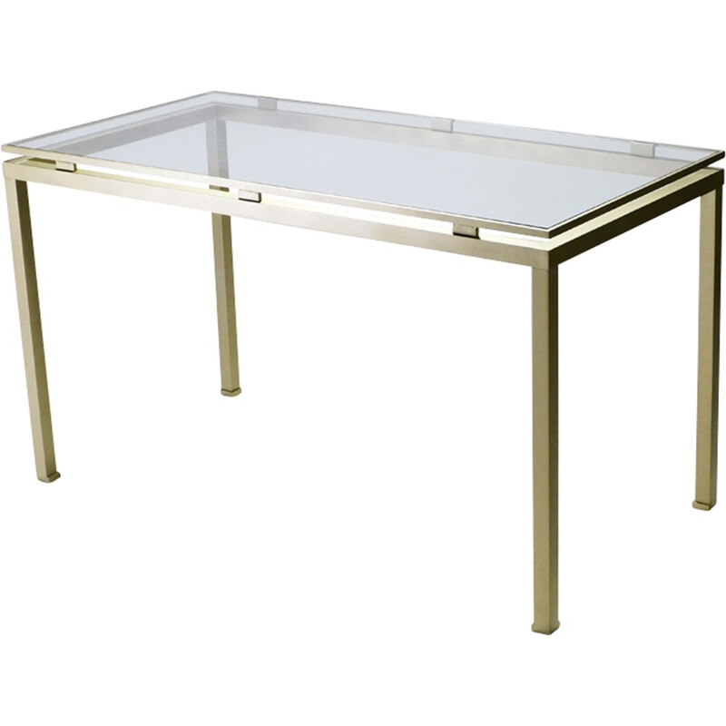 Vintage desk in brass by Guy Lefevre for Maison Jansen - 1970s