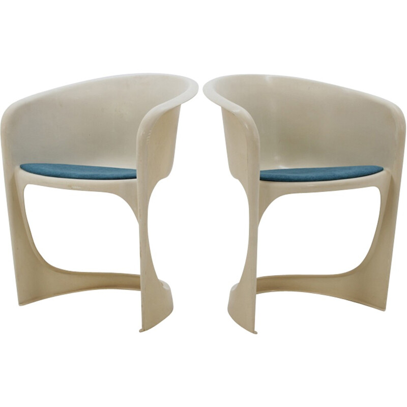 Set of 2 vintage plastic chairs by Steen Østergaard for Cado - 1970s