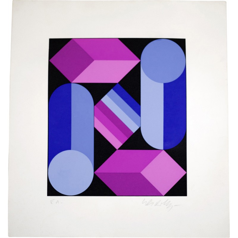 Lithograph signed Victor Vasarely for \