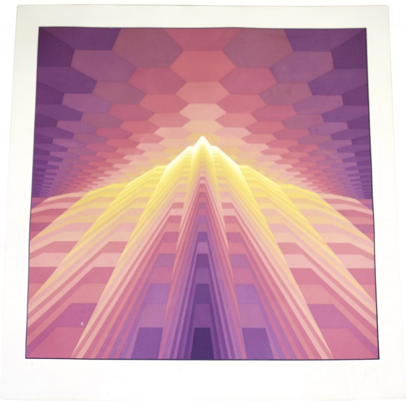 "Silkscreen signed by Jean-Pierre Vasarely for ""épreuve d'artiste"" - 1970s"