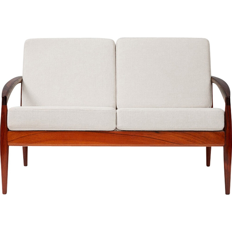 "Vintage ""Paper Knife"" 2-seater sofa in rosewood by Kai Kristiansen for Magnus Olesen - 1950s"