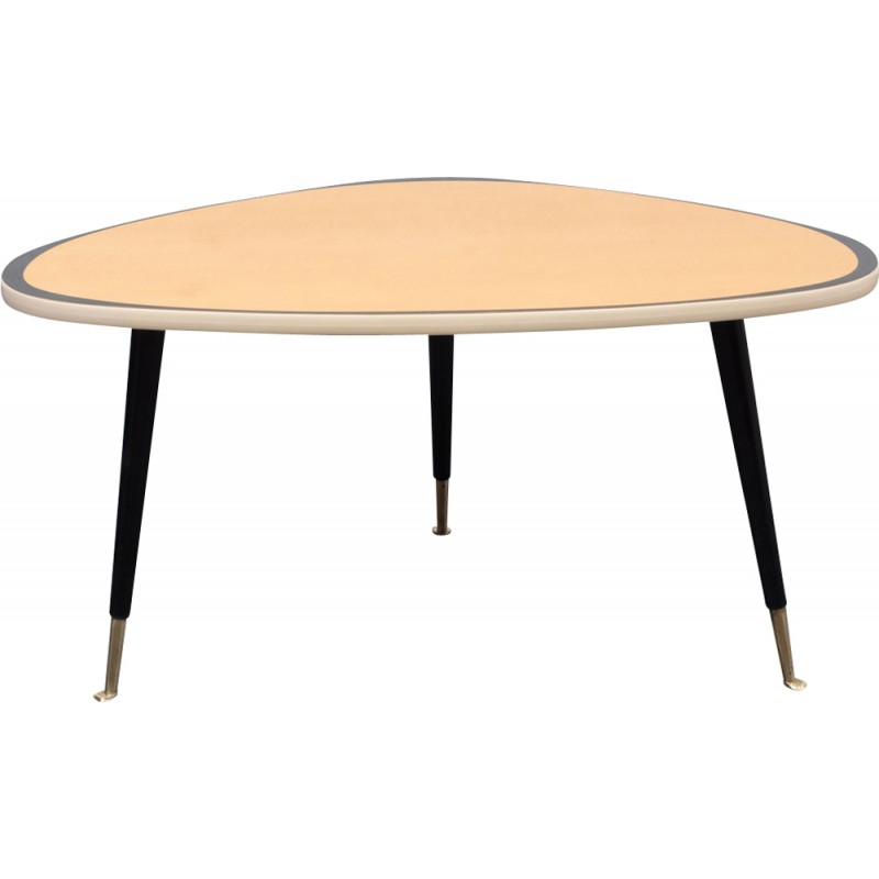 Coffee Table 1950s: Vintage Kidney-shaped Coffee Table