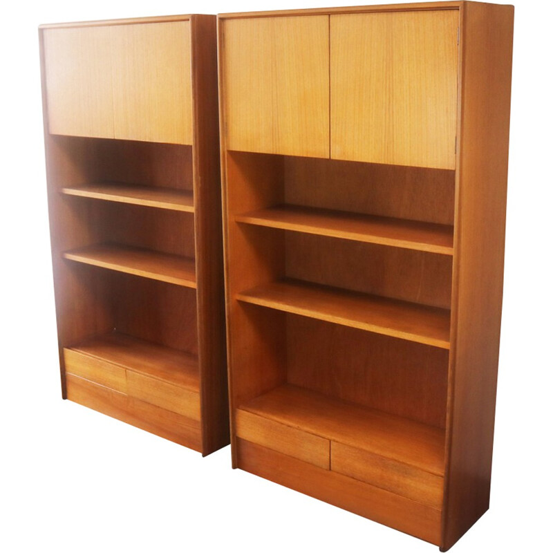 Vintage pair of bookshelves units by G-Plan - 1970s