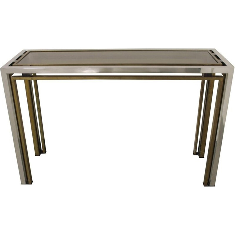 Vintage console in brass by Romeo Rega - 1970s